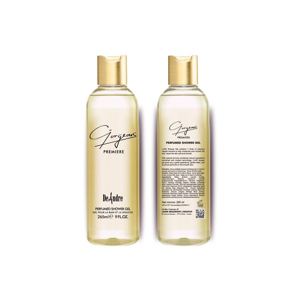 Sữa tắm hương nước hoa DeAndre Gorgeous Premiere - Perfumed Shower Gel - 3450556 , 730449562 , 322_730449562 , 130000 , Sua-tam-huong-nuoc-hoa-DeAndre-Gorgeous-Premiere-Perfumed-Shower-Gel-322_730449562 , shopee.vn , Sữa tắm hương nước hoa DeAndre Gorgeous Premiere - Perfumed Shower Gel