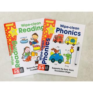 Sách - Wipe Clean Phonics + Reading - Học Tập Sớm ( Dành cho trẻ từ 3-6 tuổi ) thumbnail