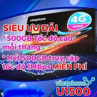 Sim 4G Vinaphone, Siêu data cho thiết bị giám sát, U900 Và U1500 Tặng 500GB/Tháng