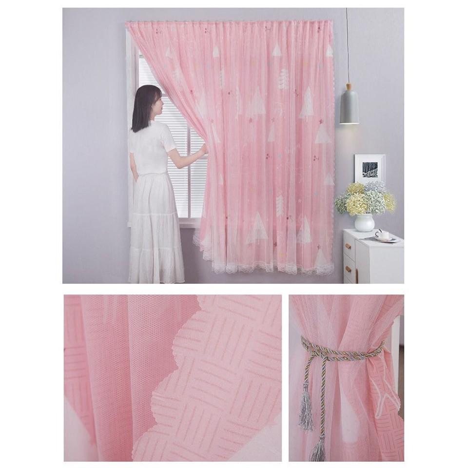 [SIÊU SALE 1 NGÀY] Rèm cửa sổ, rèm cửa dán tường 2 lớp, rèm cửa chống nắng dán tường-Mẫu tiếp