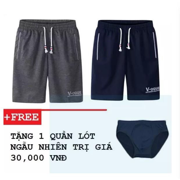 Combo 2 quần short thun nam V-OGUE ZAVANS + 1 quần lót tặng kèm