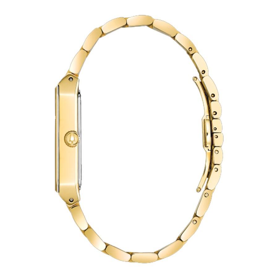 Đồng Hồ Bulova Nam Đính Kim Cương Dây Kim Loại Pin-Quartz 97D120 - Mặt Vàng (30x45mm)