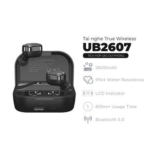 Tai nghe True Wireless Stereo Energizer UB2607 - tích hợp sạc dự phòng 2600mAh, thiết kế nhỏ gọn, âm thanh chuẩn HD