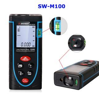 Thước đo khoảng cách bằng tia laser SNDWAY SW-M100 phạm vi 100m