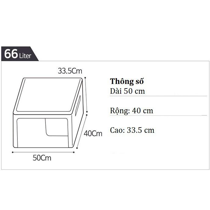 TÚI ĐỰNG QUẦN ÁO KHUNG THÉP 66L- HỘP ĐỰNG QUẦN ÁO 66L- LIVING BOX 66L