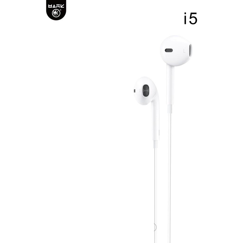 Tai Nghe Nhét Tai MK I5 jack 3,5mm có Mic đàm thoại- Lỗi 1 đổi 1