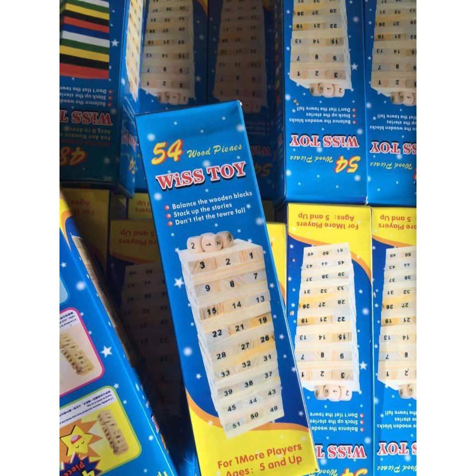 Trò chơi rút gỗ 54 thanh Wiss Toy