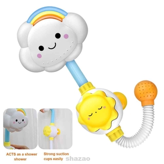 Suction Cup Base Weather Cartoon Funny Game Baby Dabbling Children Gift Swimming Bathing Cloud Rainbow Shower Faucet Toy