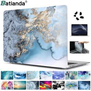 Ốp Laptop Batianda Cho Macbook Pro 13.3 15.4 16 2020 Air Retina 11 13 12 15 A2159 2179 2141 Họa Tiết Vân Đá thumbnail