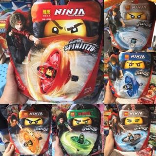 Bộ lego xếp hình thành con quay Ninja (5 màu)