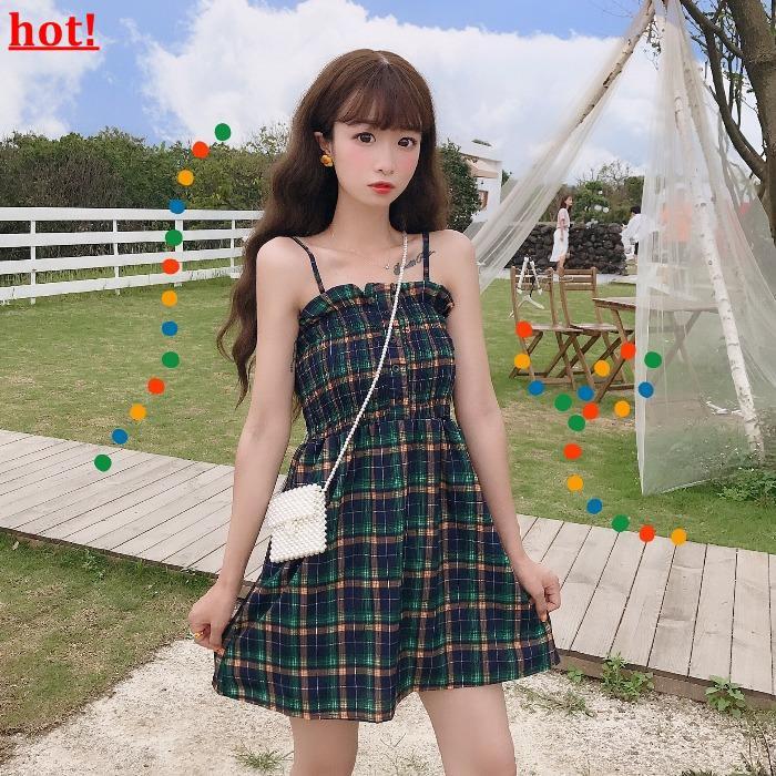 2317541904 - Chân váy bút chì họa tiết ca rô phong cách Hàn Quốc thanh lịch dành cho nữ