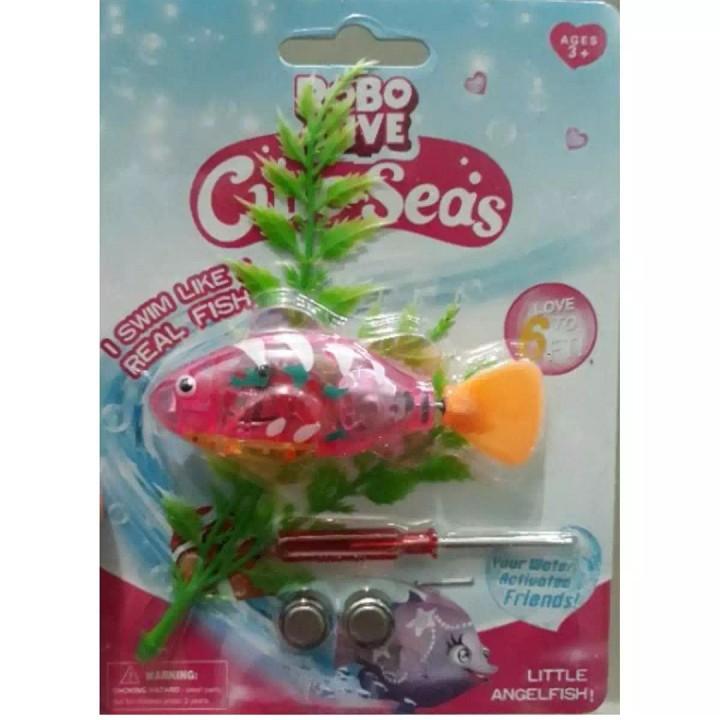 Set 5 Cá cảnh điện tử tự bơi trong nước - Đồ chơi dễ thương cho trẻ nhỏ-  Cá cảnh chạy pin