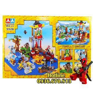 Bộ Lego Xếp Hình Mineecraft My World No.5526. Gồm 492 Chi Tiết. Lego Ninjago Lắp Ráp Đồ Chơi Cho Bé.