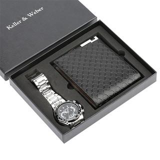 Quà lưu niệm -Hộp quà tặng sinh nhật thời trang cao cấp ( Combo: Ví, Đồng hồ )