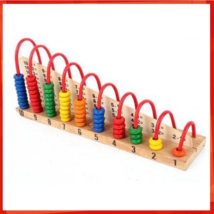 [CỰC ĐẸP] Bảng tính học đếm bằng gỗ màu cầu vồng cho bé [SỈ - LẺ]