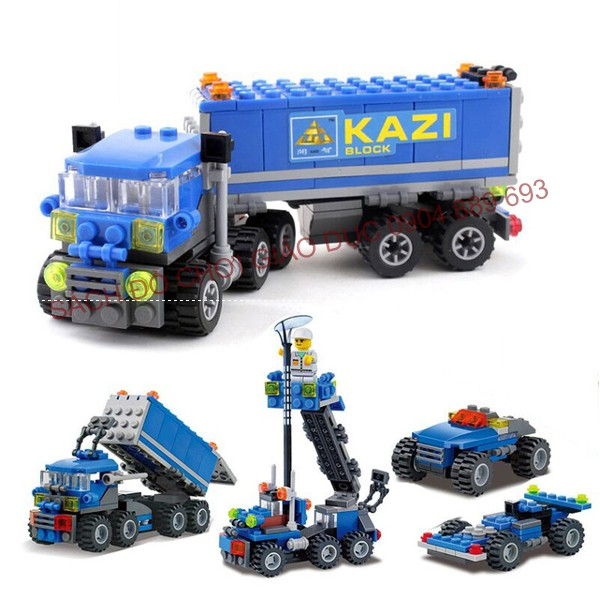 LEGO xe tải chuyển đổi 4 in 1 - Truck Car 163pc - LEGO KAZI