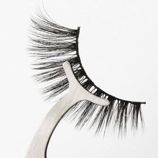 Dụng cụ kẹp mi mắt nhíp HALOMI chuyên dụng bằng thép sáng bóng dùng cho makeup thumbnail