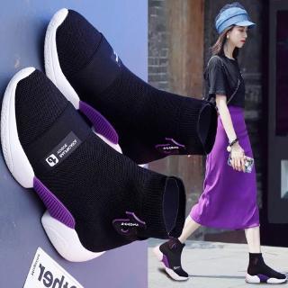 Giày Thể Thao Nữ Cổ Cao Đế Dày Thời Trang Hàn 2018