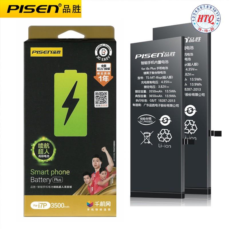 Pin dung lượng siêu cao nội địa Pisen cho iphone 6/7/8/plus