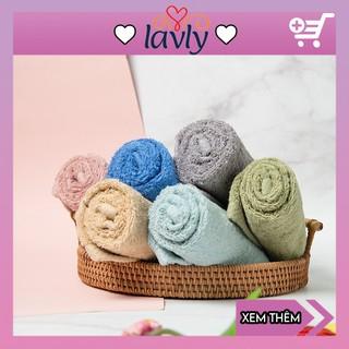Khăn mặt cotton Hàn Quốc cho bé khăn lau mặt sợi tre xuất Nhật giá rẻ LAVLY 21600 thumbnail