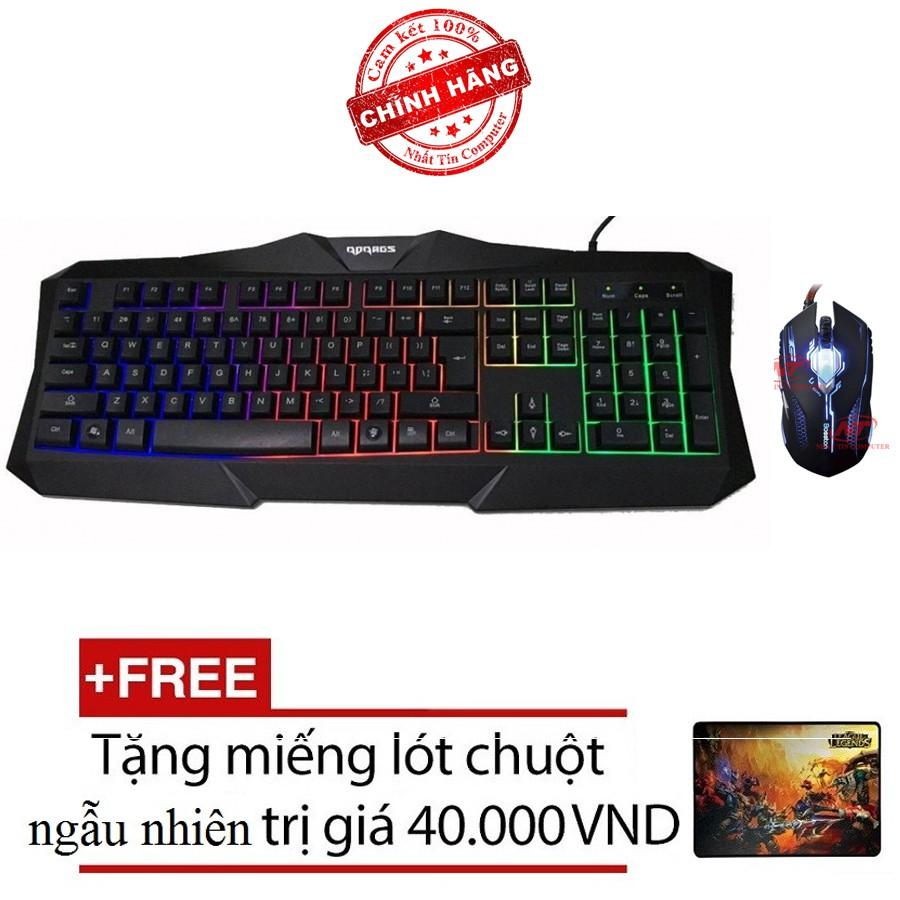 Bộ bàn phím LED và chuột chuyên game Bosston X19 - X11 (Đen) + Tặng kèm lót chuột - 2515699 , 381473570 , 322_381473570 , 336000 , Bo-ban-phim-LED-va-chuot-chuyen-game-Bosston-X19-X11-Den-Tang-kem-lot-chuot-322_381473570 , shopee.vn , Bộ bàn phím LED và chuột chuyên game Bosston X19 - X11 (Đen) + Tặng kèm lót chuột