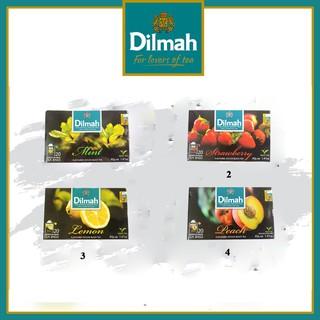 Trà dilmah túi lọc hộp 40g 20 gói vị Đào/Dâu/Bạc hà/Chanh làm từ lá trà xanh giải độc gan