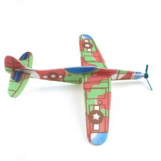 ❀INN Mini Foam Handmade Throwing Flying Airplane Glider DIY Assembly Model Kid Toy
