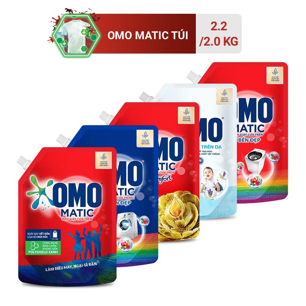 Túi Nước Giặt OMO Matic 2.0kg