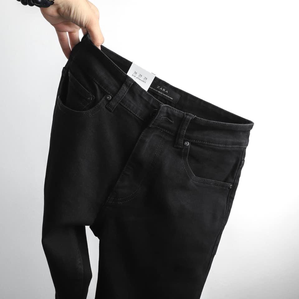 Quần jean nam đen trơn rách   cao cấp hàng chất lượng chuẩn from slimfit đẹp như