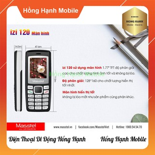 Hình ảnh Điện Thoại Masstel iZi 120 - Hàng Chính Hãng - Hồng Hạnh Mobile-3