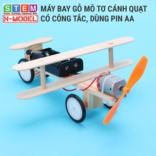 Đồ chơi sáng tạo STEM tự làm Mô hình máy bay động cơ mô tơ XMODEL Đồ chơi tự làm DIY – Do it Yourself – Giáo dục STEM