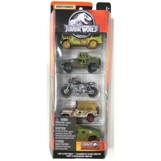 Bộ 5 xe Matchbox Jurassic World: Land Action Squad