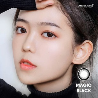 [GIÁ TỐT] Lens đen tự nhiên MAGIC BLACK - Lens mắt đen Angel Eyes đường kính 14.0 áp tròng - Độ cận 0-6 Lens màu đen thumbnail