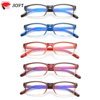 SOFTNESS Fashion Gradient Reading Glasses Ultralight Readers Blue Light Blocking Vision Care Diopter +1.0~4.0 Spring Hinge Eyewear Presbyopic Glasses/Multicolor