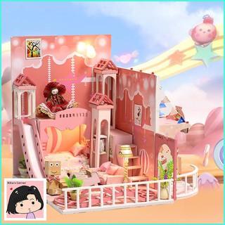 """Mô Hình Nhà Gỗ DIY """"Phòng em bé màu hồng"""""""