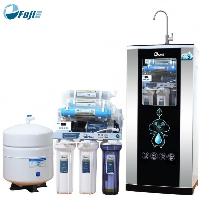 Máy lọc nước RO Fujie RO-09 CAB (9 cấp độ lọc + Bao gồm tủ cường lực)