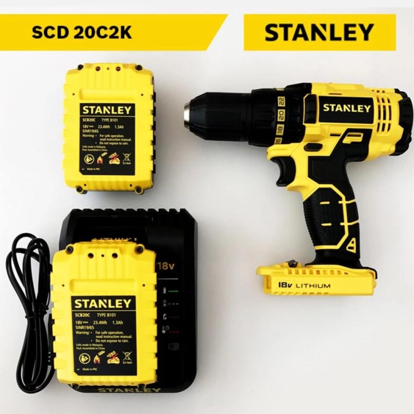Máy khoan pin Stanley 12mm 18v SCD 20C2 - 3248098 , 410544110 , 322_410544110 , 3180000 , May-khoan-pin-Stanley-12mm-18v-SCD-20C2-322_410544110 , shopee.vn , Máy khoan pin Stanley 12mm 18v SCD 20C2