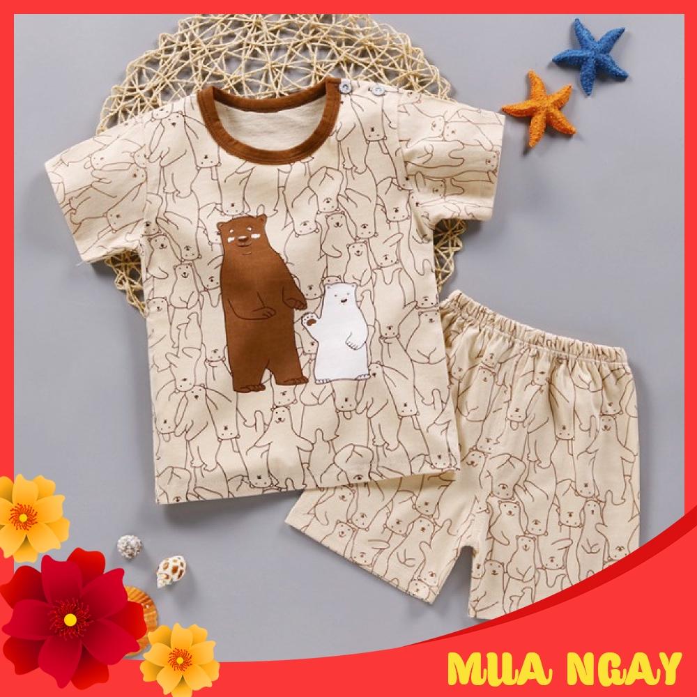 Bộ quần áo cộc mùa hè cho bé phong cách Hàn Quốc mẫu mới nhất MS K007