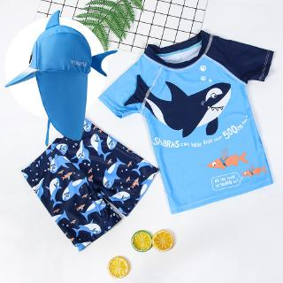 Bộ Đồ Bơi Hình Cá Mập Đáng Yêu Cho Bé 1-12 Tuổi Cỡ 1-12 Tuổi thumbnail
