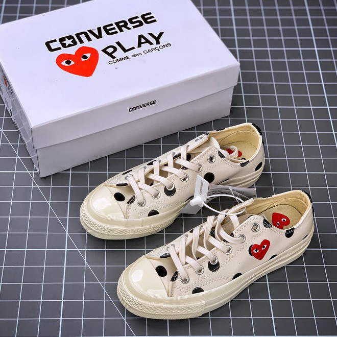 【COD】CDG x Converse Chuck Taylor All Star 1970S White Sneakers Shoes For Men&Women