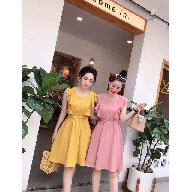 Đầm bèo màu xoè