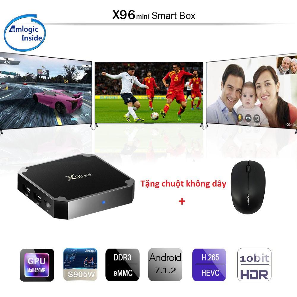 Android Tivibox X96mini Ram 2G- Rom 16G tặng chuột không dây - 3202663 , 848308062 , 322_848308062 , 850000 , Android-Tivibox-X96mini-Ram-2G-Rom-16G-tang-chuot-khong-day-322_848308062 , shopee.vn , Android Tivibox X96mini Ram 2G- Rom 16G tặng chuột không dây