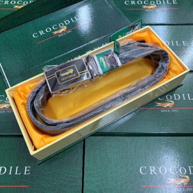 Dây thắt lưng cá sấu full box sang trọng