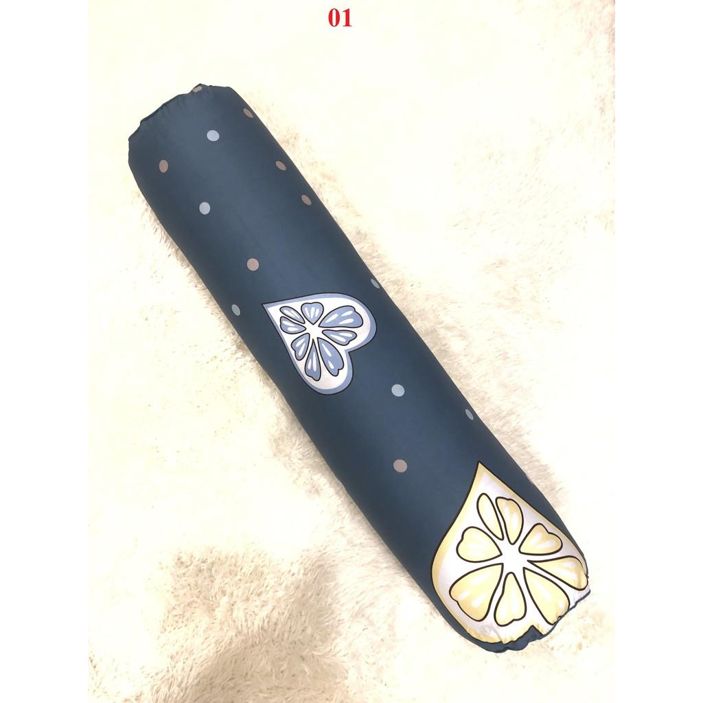 Vỏ gối ôm Cotton cao cấp có khóa kéo, vỏ gối kích thước 30x95