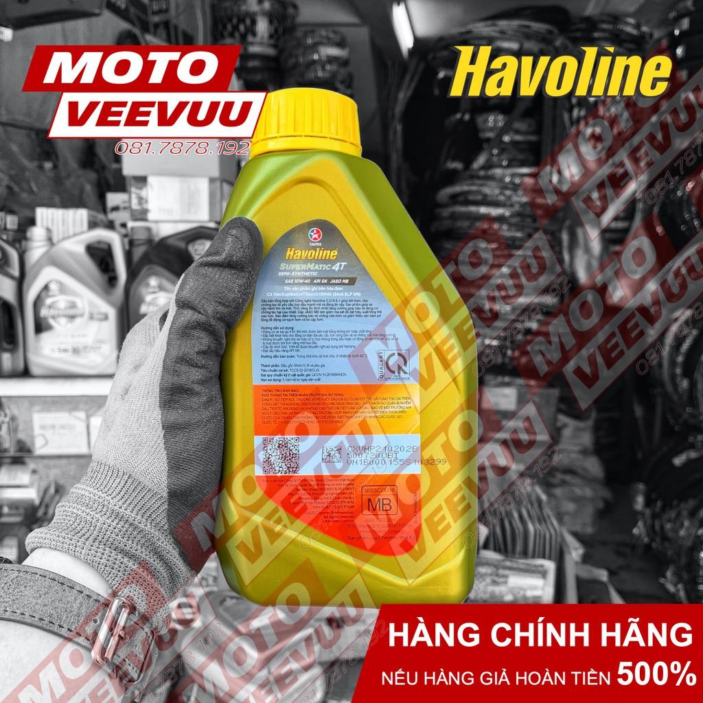 Dầu nhớt xe tay ga Caltex Havoline SuperMatic 4T Semi 10W40 800ml