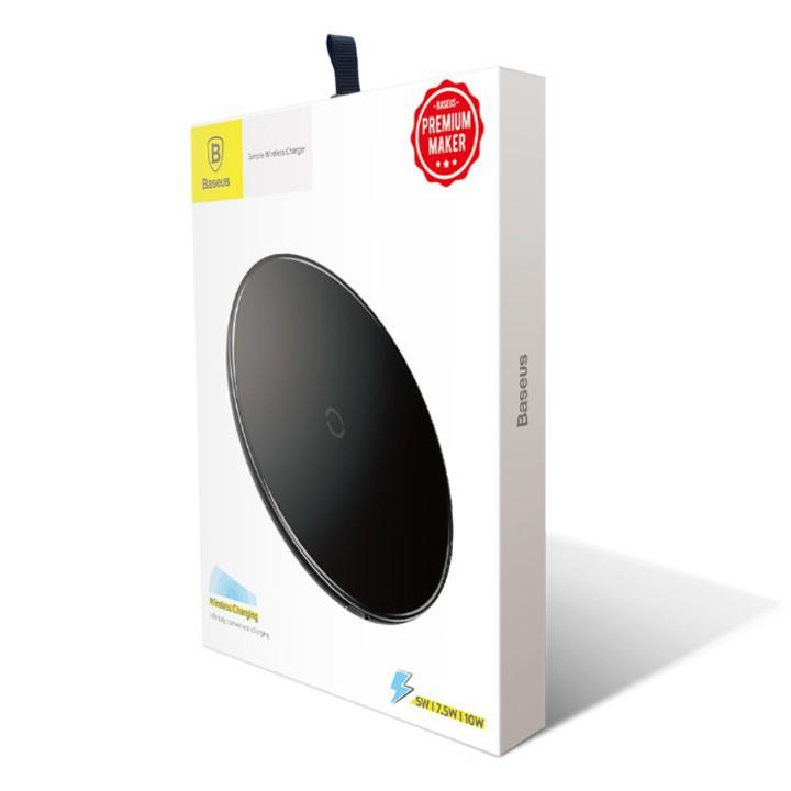 Bộ đế sạc nhanh không dây nhãn hiệu Baseus (Qi Wireless Quick Charger, 5W/ 7.5W,) - Mã: CCALL - JK01