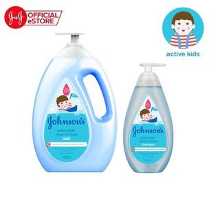 Bộ sữa tắm và dầu gội Johnson's thơm mát năng động - 540017254