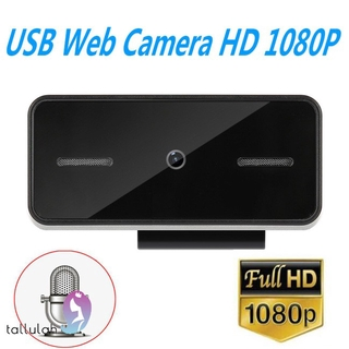 HD 1080P Webcam with Microphone Computer Pc WebCamera for Live Broadcast Video Conference Work