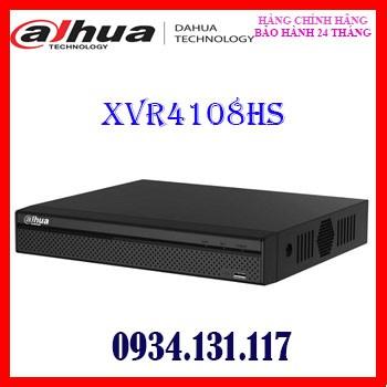 Đầu ghi hình HDCVI/TVI/AHD và camera IP 8 kênh DAHUA XVR4108HS