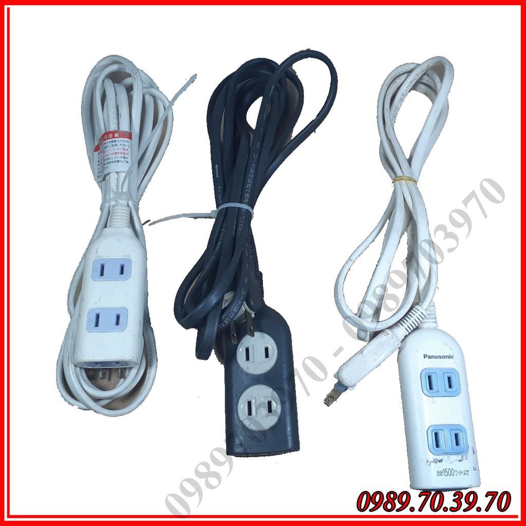 Ổ cắm điện nội địa Nhật điện 220v đã qua sử dụng phích cắm điện dẹp , 3 lỗ dây dài 3m ( sản phẩm được giao ngẫu n
